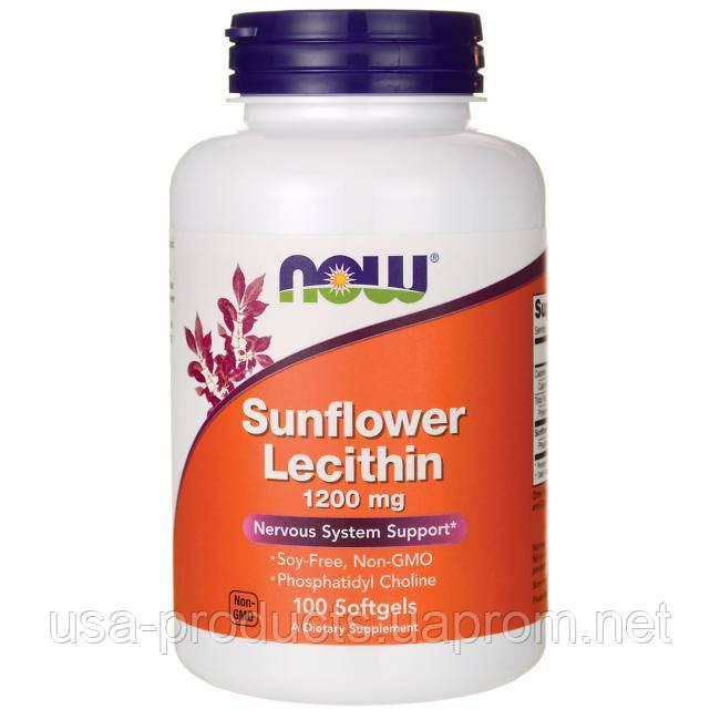 Лецитин подсолнечника 1200 мг 100 капс США