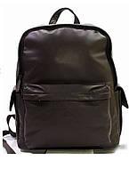 Кожаный коричневый мужской рюкзак, фото 1