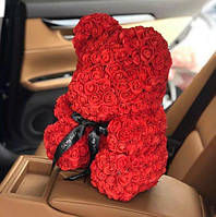 Мишка из красных роз 40 см Харьков FL017