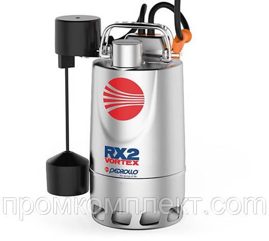 Погружной дренажный насос с корпусом из нержавеющей стали PEDROLLO RX-VORTEX RXm 2/20 - GM