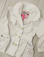 Детский  демисезонный плащ- ветровка для девочки размер 92.98.104.110 (2-5 лет)