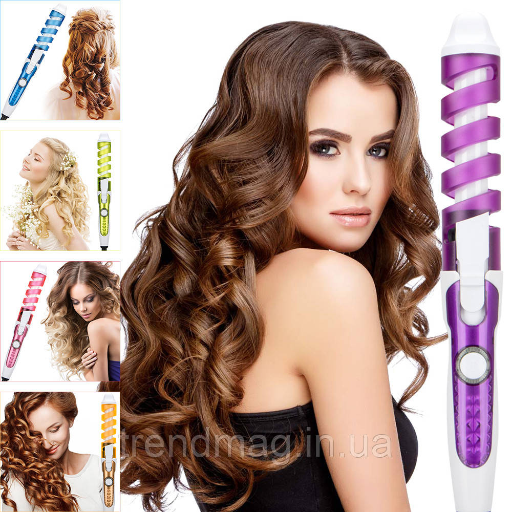 Спиральная плойка для волос Rizhen RZ-118.