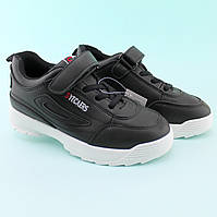 Детские черные кроссовки на танкетке размер 30,32,33, фото 1