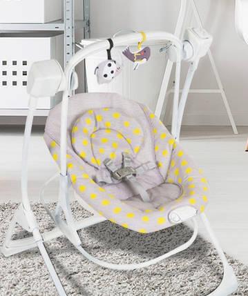 Кресло-качалка Cozy Duet Duet Minii Mono Серый с желтым, фото 2