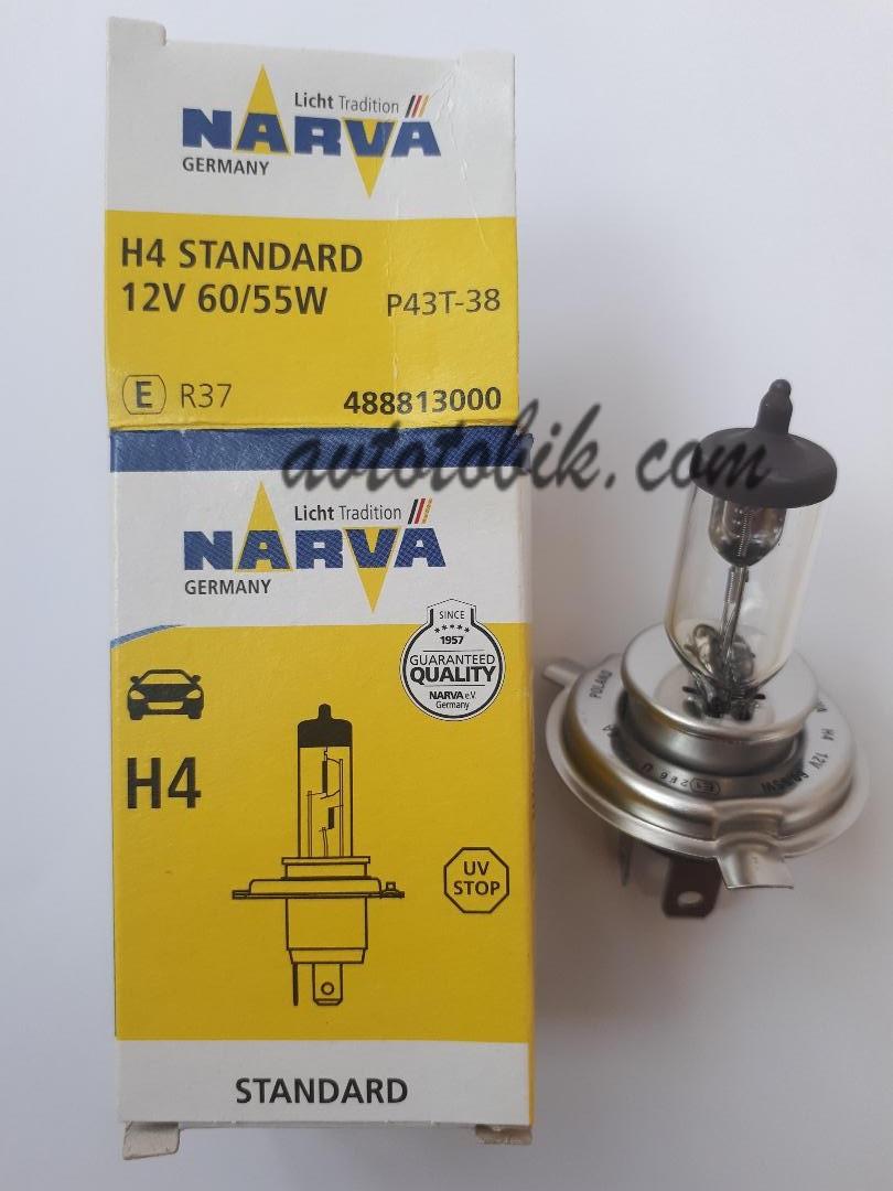 Лампа галогенная NARVA H4 Standart 12V 60/55W (1 шт.)