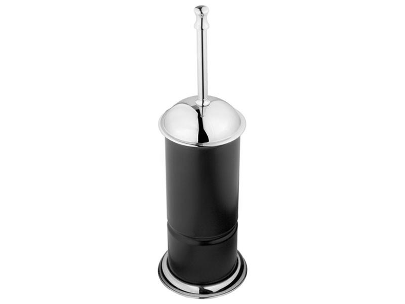 Ершик для унитаза напольный KUGU Toilet Brush Holder черный/хром