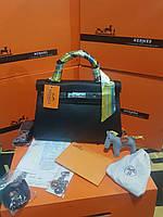 a7e8152b20b7 Женская сумка от Hermes 30 см черная шикарная сумка Original quality Гермес  Келли Эрме