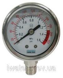 Манометр 150psi/1МПа /10 атм. (panel)