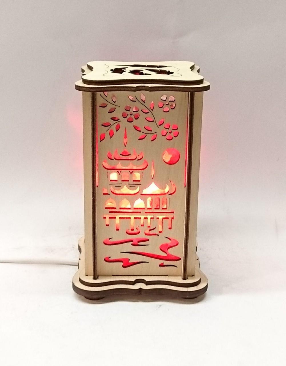 """Соляной светильник деревянный """"Пагода маленький"""""""