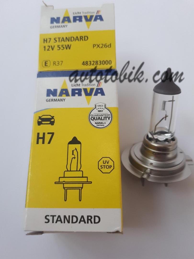 Лампа галогенная NARVA H7 Standart 12V 55W (1 шт.)
