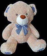 Милый плюшевый Медведь 68 см с бантом на шее отличный подарок игрушка мягкая