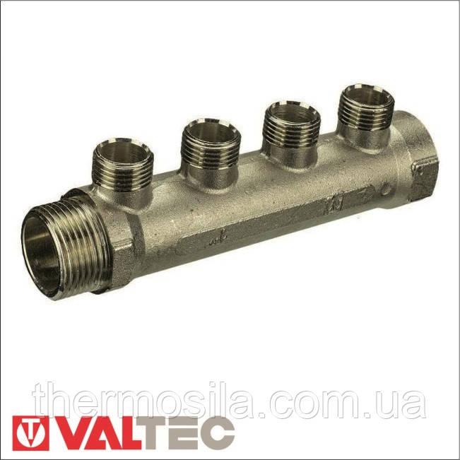 VTc.500.N Коллектор для воды Valtec с наружной резьбой, 3/4 х 1/2 хр. VT