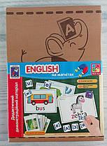 Дидактический материал: English на магнітах VT3701-08 Vladi Toys Украина