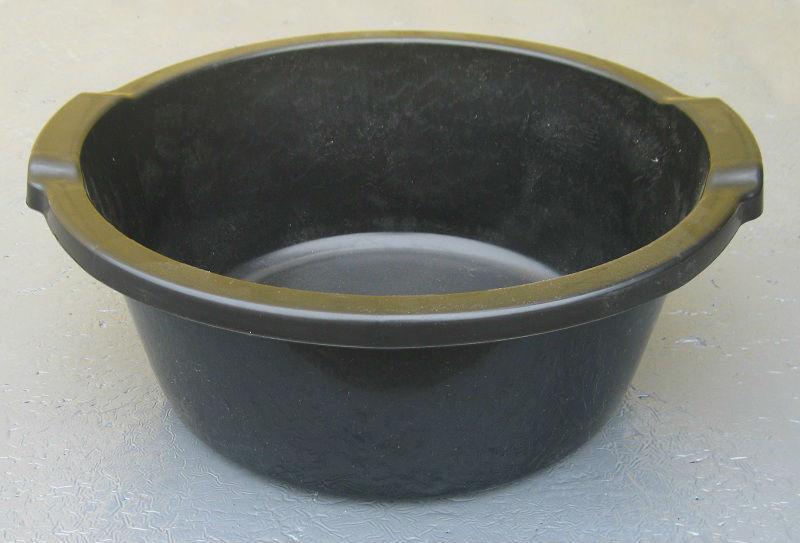 Таз полиэтиленовый 12 литров чёрный
