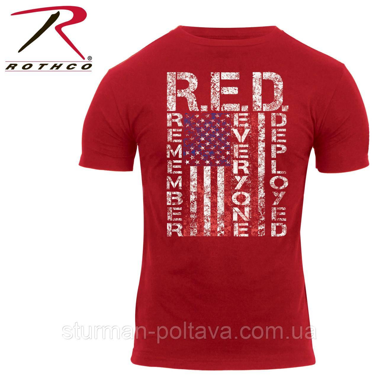 Футболка Rothco с флагом США Athletic Fit R.E.D.