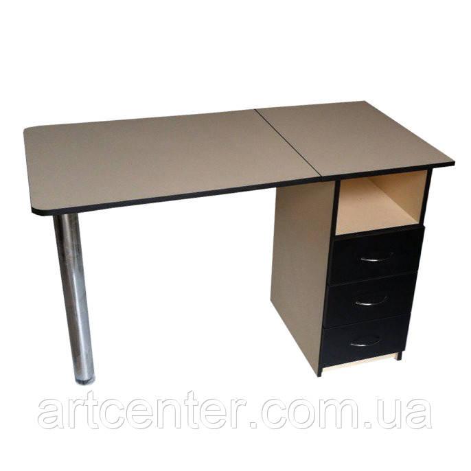 Маникюрный стол СТАНДАРТ  с выдвижными ящиками складной