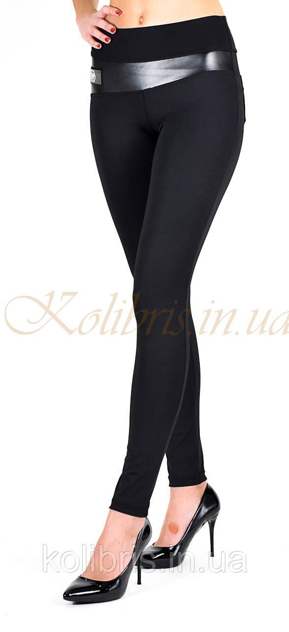 Лосіни жіночі класика,чорний м/дайвінг, (норма), емблема