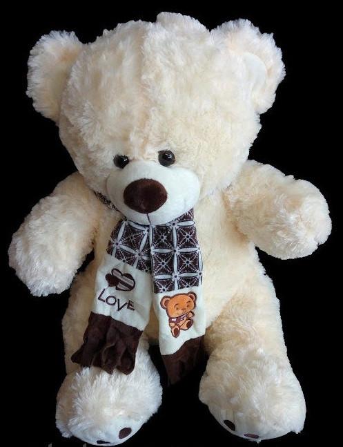 Плюшевый большой Медведь 95 см игрушка мягкая на подарок мишка в шарфе