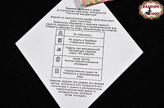 Павлопосадский чёрый  палантин Зимний сад, фото 3