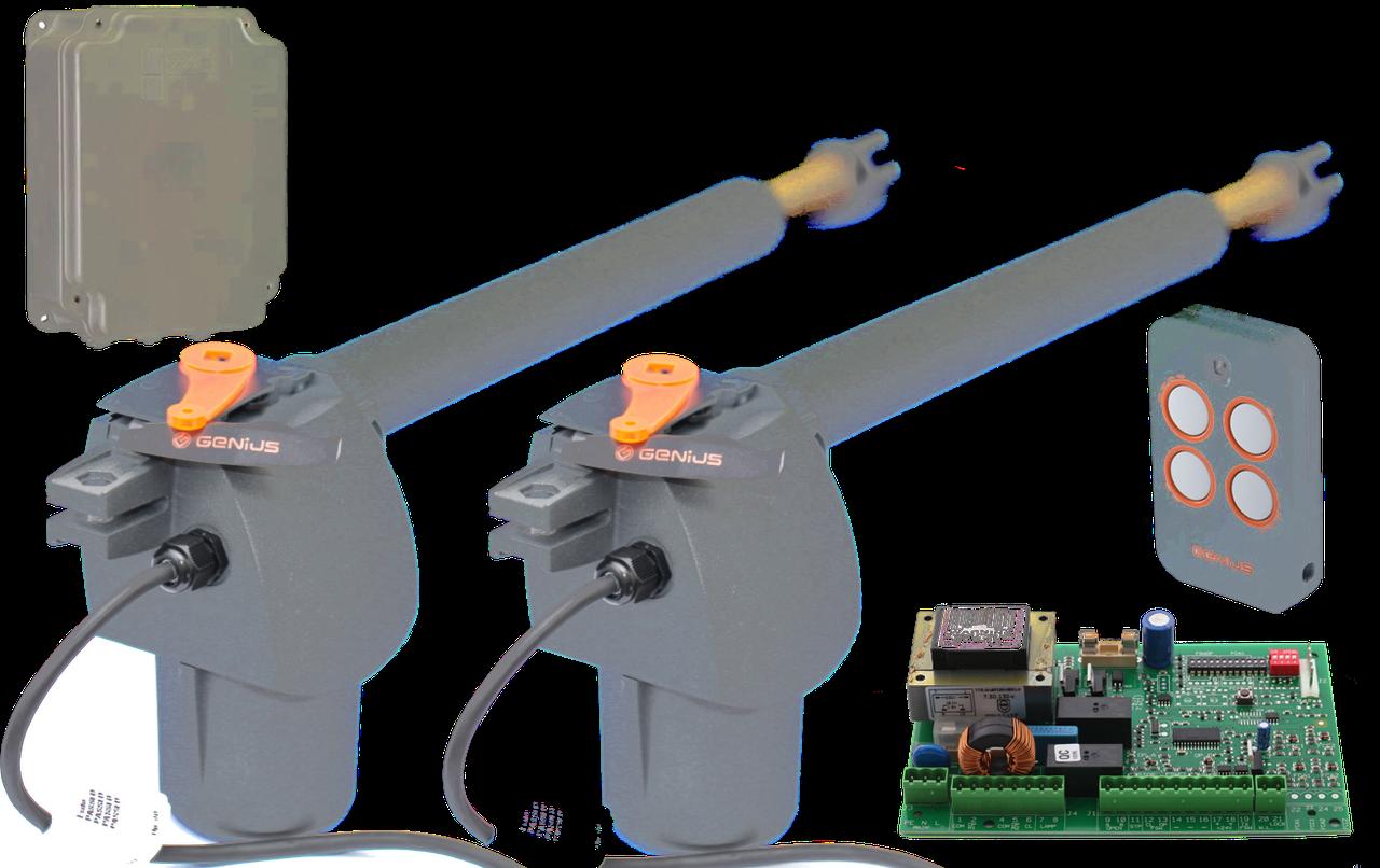Электромеханический привод для распашных ворот FAAC GFlash Q (G-BAT 400) створка до 4 м MINI