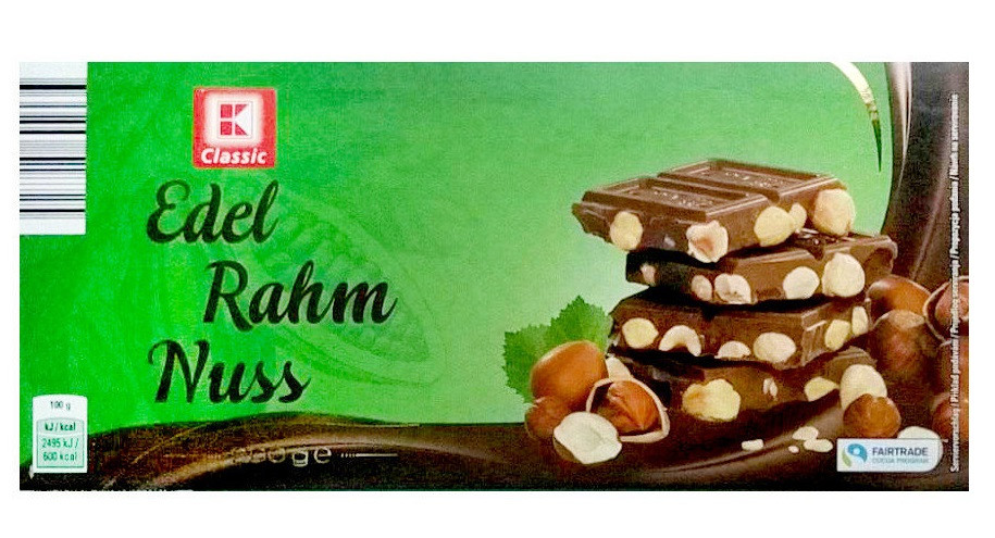 K-CLASSIC Edel Rahm (молочный с цельным орехом) 200G. Германия