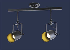 Светильник потолочный в виде прожектора на планке, направляемый в стиле Loft LV761SD02-2 BK, фото 2