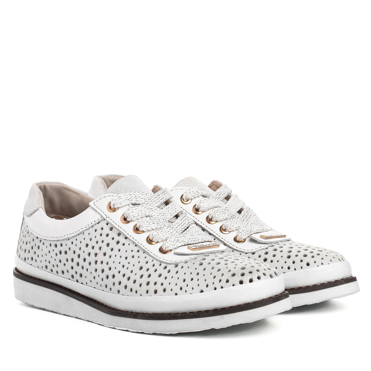 a0a03e6c Купить Туфли женские Vikttorio (летние, с перфорацией, на шнурках ...
