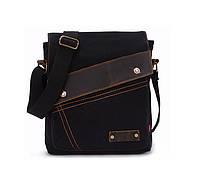 Брезентовая мужская сумка на плечо Augur Черный, фото 1