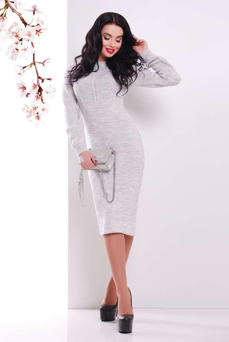 Молодежное платье Виталия светло-серый(44-48)