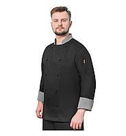 Китель повара мужской_Black_GENEVA_160