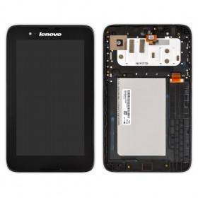Дисплей для Lenovo A3300 IdeaTab с тачскрином и рамкой черный Оригинал