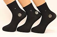 Мужские стрейчевые средние носки с бамбука100% Ф15