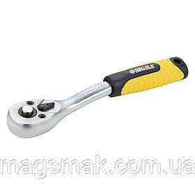 """Ключ-трещотка с изогнутой ручкой 1/4"""" 150мм 72T CrV Sigma (6050071)"""