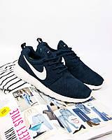 563c4659 Кроссовки мужские Nike Roshe Run Blue/White (Найк роше ран синие/белые)
