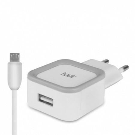 Зарядное устройство Havit HV-UC217S micro usb white