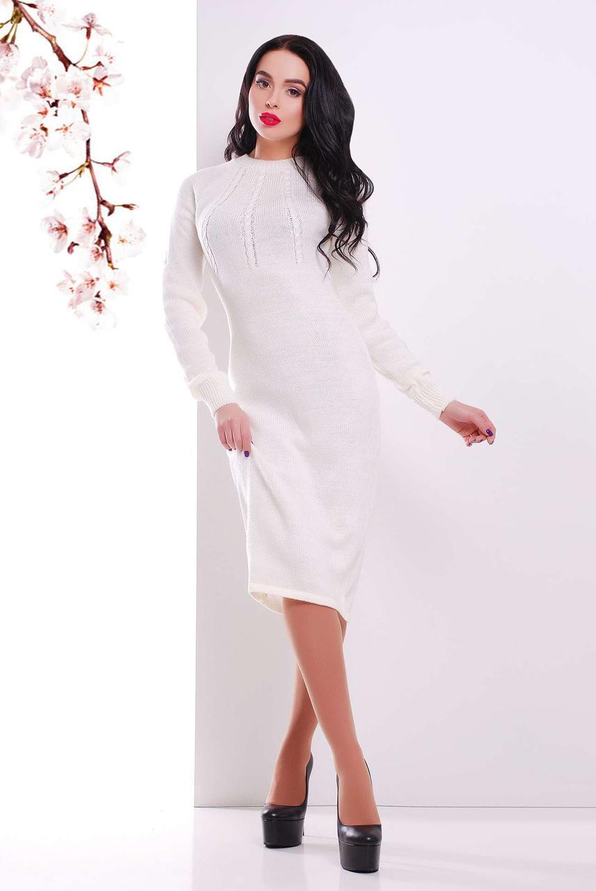 Молодежное платье Виталия молоко(44-48)