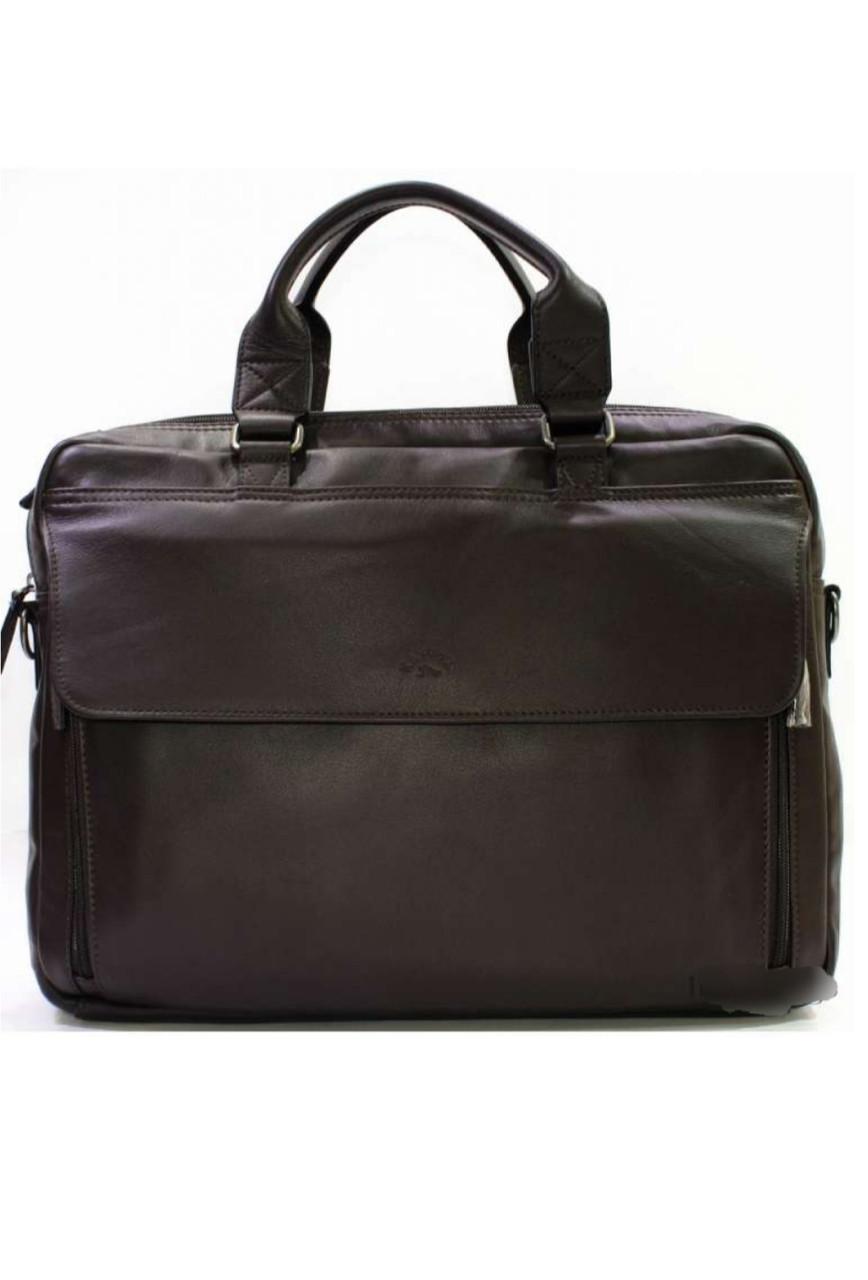 Чоловіча ділова сумка з натуральної шкіри катана