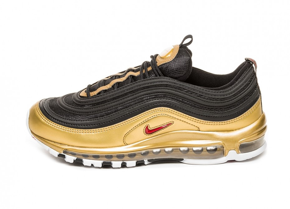 "Кроссовки Nike Air Max 97 QS ""Black/Varsity Red-Metallic Gold"""