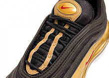 "Кроссовки Nike Air Max 97 QS ""Black/Varsity Red-Metallic Gold"", фото 2"