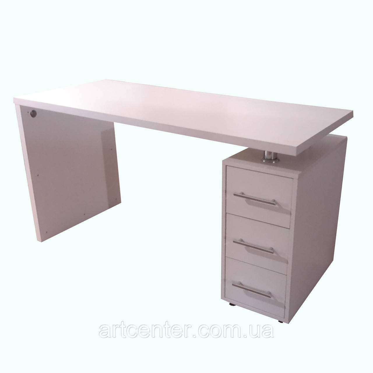Стіл для манікюру з ящиками, манікюрний стіл білий