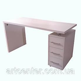 Стол для маникюра с ящиками, маникюрный стол белый