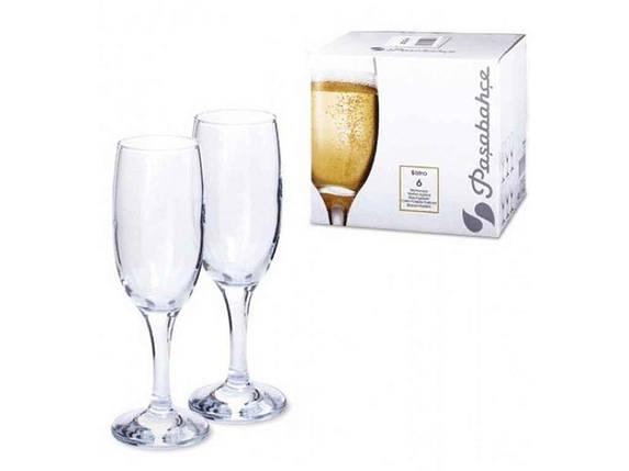Набір келихів д/шампансько 6*190мл Bistro 44419 ТМPASABAHCE, фото 2