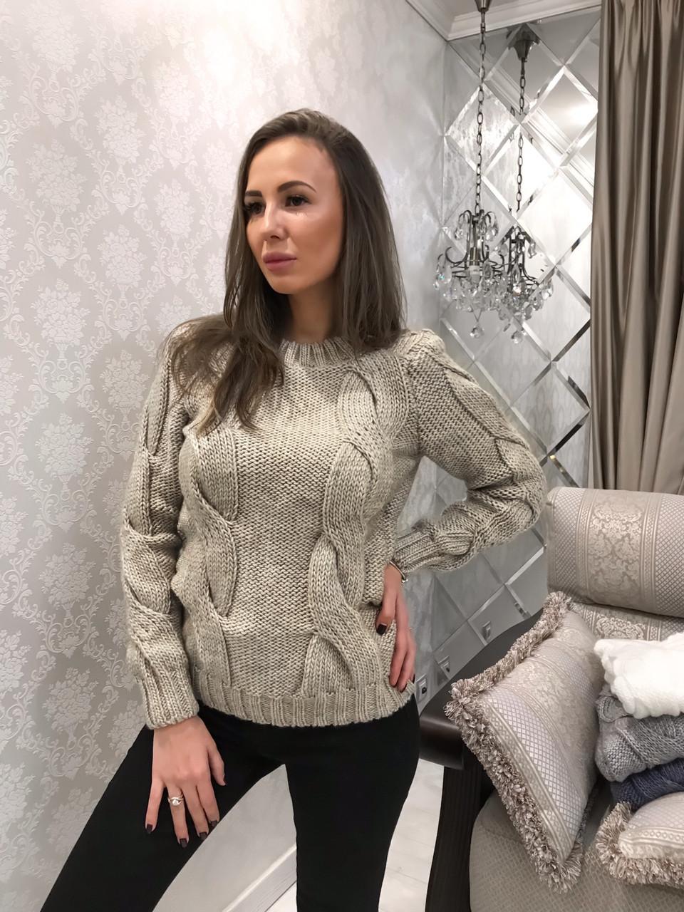 84a3df4c58f Вязаный зимний свитер (арт. 150844242) - Aleksa - интернет-магазин женской  одежды