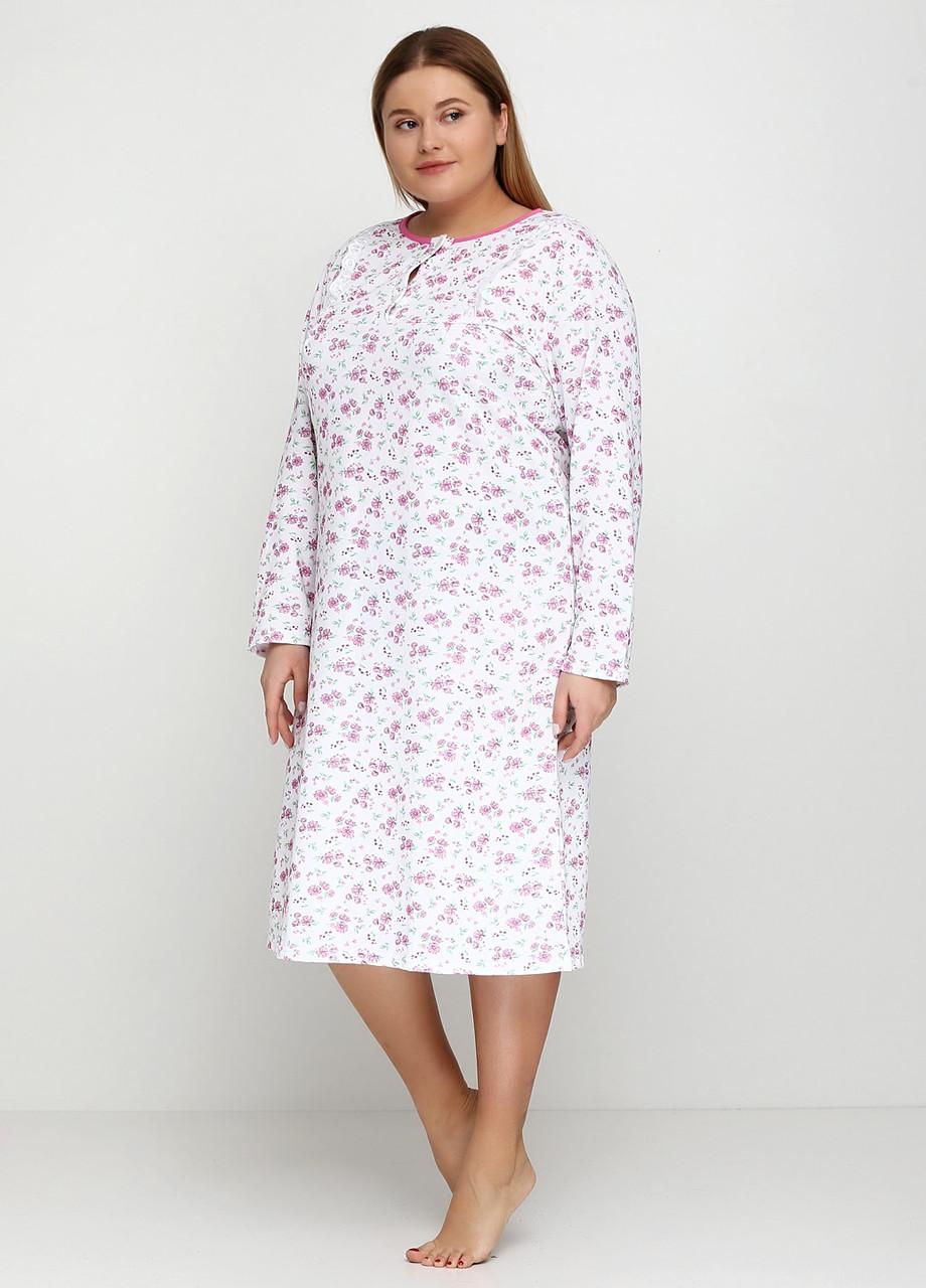 Женская ночная сорочка с начесом