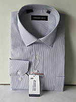 Рубашка мужская Ferrero Gizzi vd-0024 белая в полоску классическая с длинным рукавом