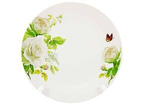 """Тарелка глубокая d=200 мм Белые розы упаковка 12 шт """"Interos"""""""