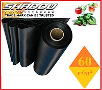 "Агроволокно  60 г/м², 1,6х100 м. чёрное в рулонах UF-4%  ""Shadow""(Чехия), фото 1"
