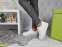 Кроссовки низкие форсы на толстой подошве белые, фото 1