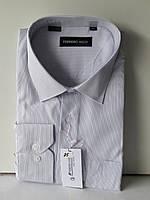 Рубашка мужская Ferrero Gizzi vd-0025 белая в полоску классическая с длинным рукаом
