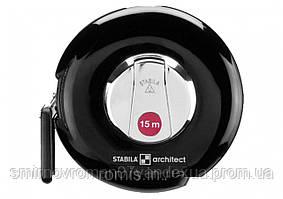 Рулетка STABILA Type ARCHITECT : L= 15 м x 10 мм, поліамід. корпус з сталевою стрічкою